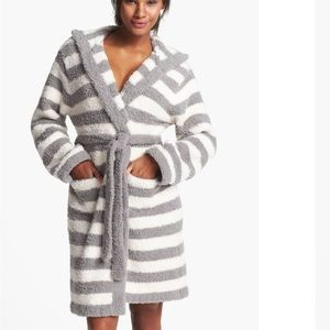 Barefoot Dreams Cozy Chic Striped Hooded Robe